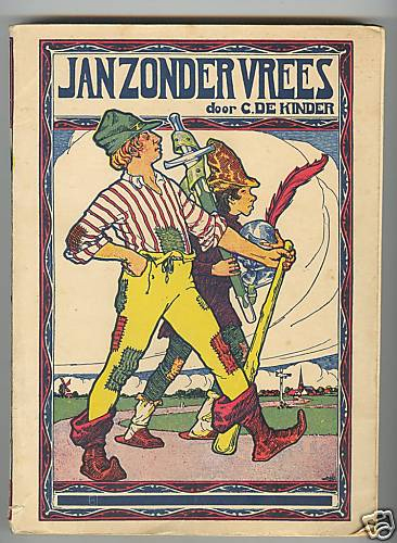 """Jan zonder Vrees is een Antwerps folkloristisch figuur, waarover talrijke sagen de ronde doen. Jan is een sterke, dappere man die voor niets of niemand bang is, vandaar zijn bijnaam """"Jan zonder vrees"""", die dezelfde is als de middeleeuwse hertog Jan Zonder Vrees. In 1910 schreef Constant de Kinder (13 april 1863- 24 december 1943) een populaire jeugdroman rond de figuur: De wonderlijke lotgevallen van Jan zonder Vrees."""