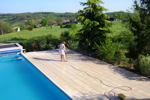 Au cercle des ch nes - Terras teak zwembad ...