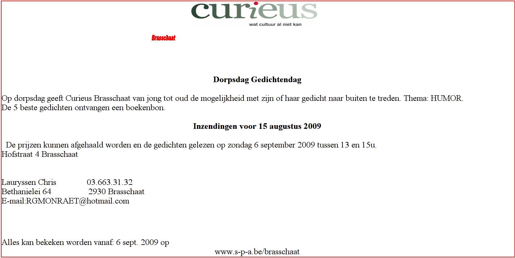 Curieus Brasschaat