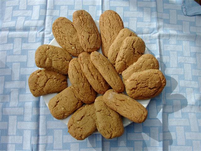 koekjes inpakken bakpapier