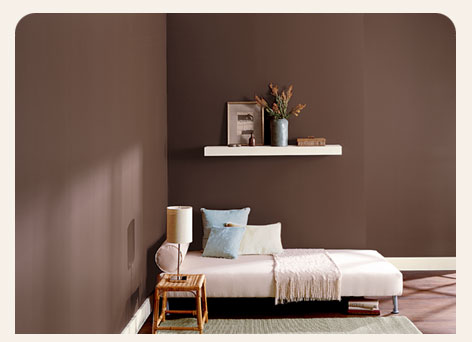 Bruine Slaapkamer Muur : Slaapkamer muur verven excellent welke muur verven slaapkamer in