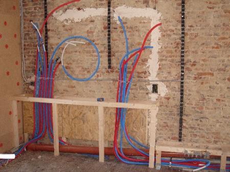 Waterleiding leggen in huis