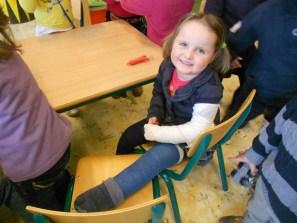 rolstoel voor gebroken been