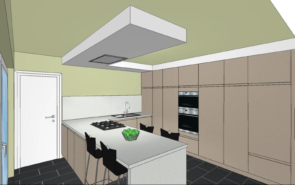 Keuken tekenen 3d idee n voor huis ontwerp idee n en for Bouwen en interieur