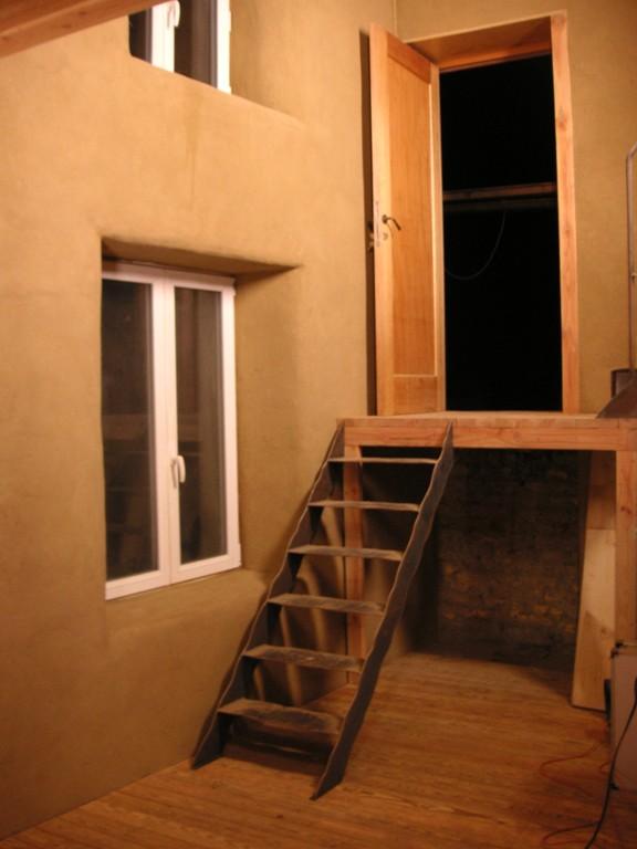 Ecologische verbouwing b b aan huis - Mezzanine trap ...