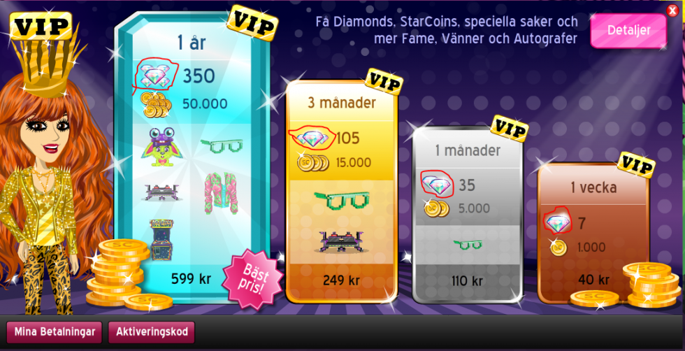 how to buy a diamond pack on msp