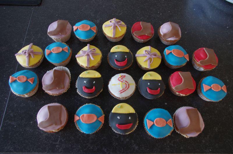 eenvoudige cupcake versiering
