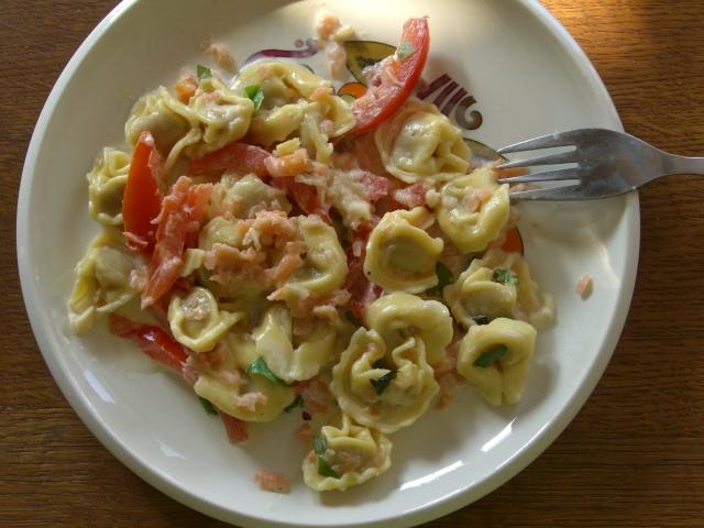 lichte maaltijd met pasta