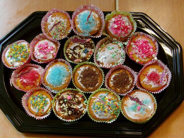 cupcakes versieren voor kleuters