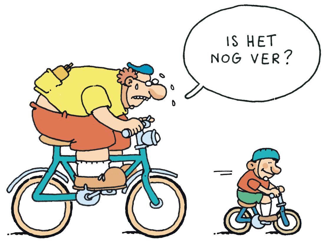 Afbeeldingsresultaat voor fietser tekening