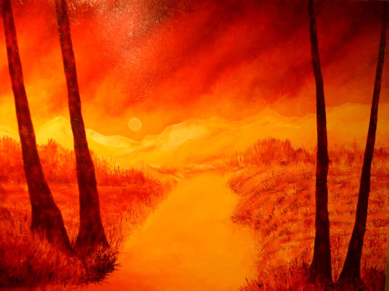 Kunstschilder christoph van daele - Warme en koude kleuren in verf ...