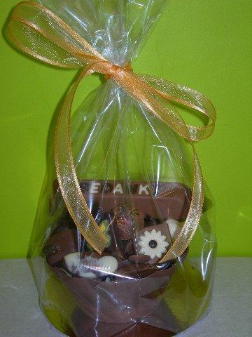 ronde praline chocolade