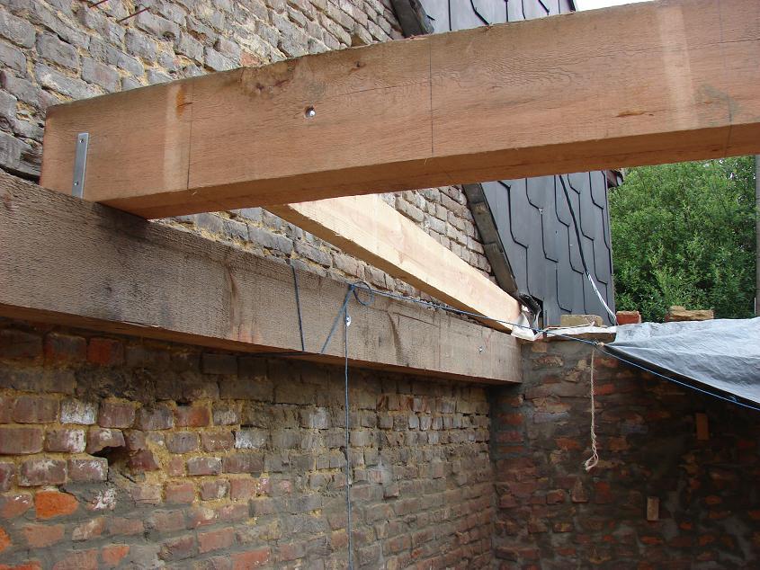 Verbouwlog - Opruimen houten balk ...