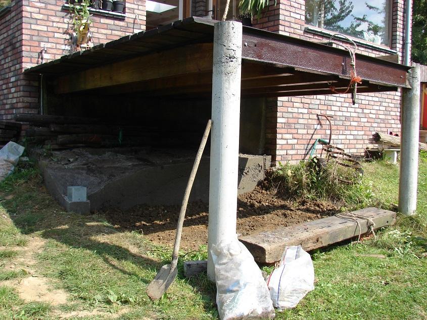 Verbouwlog - Ijzer terras ...